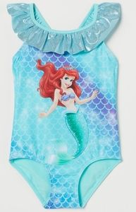 H&M Disney Little Mermaid Swimsuit Size 2-4 Years